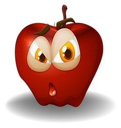 Fresh apple with face vector