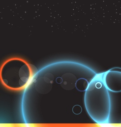 abstract space vector image