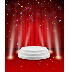 Stage background with confetti and light vector