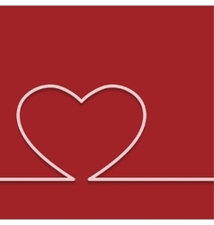 Modern red valentines day or 8 march vector