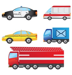 Set of different types of cars vector