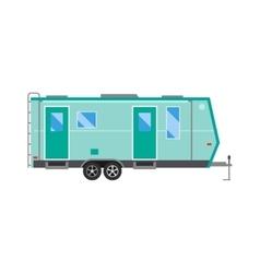 Ccaravan travel car vehicle trailer house summer vector