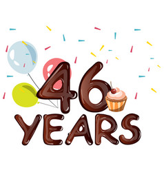 anniversary banner celebration 46 years vector image