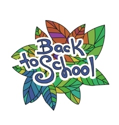 Back to School Sketchy Doodles vector image