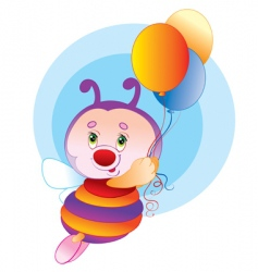 birthday bee vector image vector image