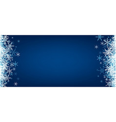 Blue winter banner with snowflakes vector image vector image