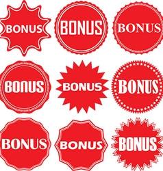 Bonus signs set bonus sticker set vector