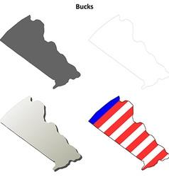 Bucks Map Icon Set vector image vector image