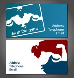 Business card for gym vector