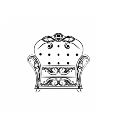 Classic royal armchair with ornaments vector image vector image