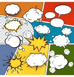 Comic set bubbles vector image vector image