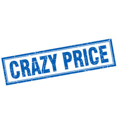 Crazy price square stamp vector