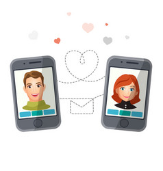 dating application with man and woman vector image