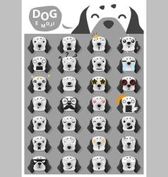 Dog emoji icons 3 vector image vector image