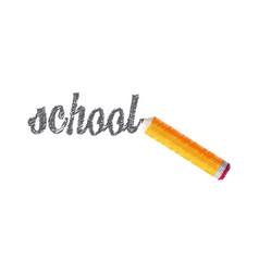 Drawing school pencil lettering vector
