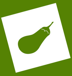 Eggplant sign salad ingredient healthy vegetable vector