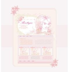 elegant modern website template vector image vector image