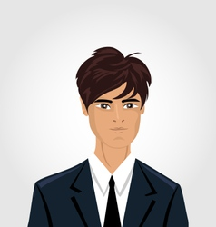 Front face portrait avatar office employee in vector image