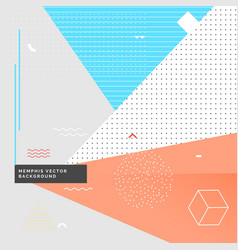geometrical memphis style background vector image vector image