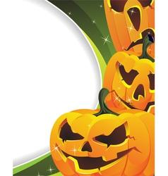 Green sparkling halloween background vector image