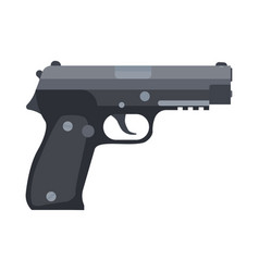 gun hand pistol handgun isolated weapon vector image