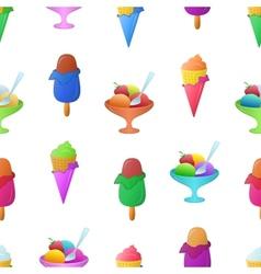 Ice cream seamless vector image vector image
