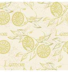 Lemon seamless vector image