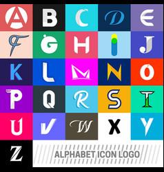 logotype alphabet icons logo vector image vector image