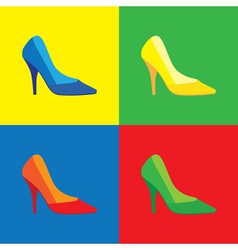 Pop art shoes vector