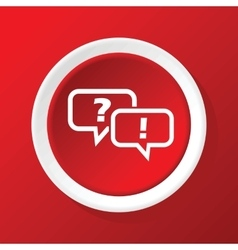Question answer icon on red vector