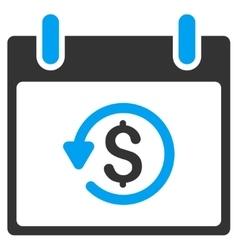 Refund Calendar Day Toolbar Icon vector image vector image