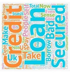 Secured bad credit loans make sense text vector
