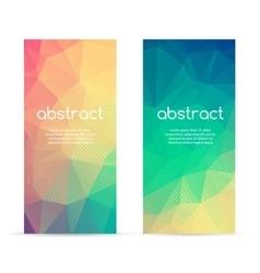 Set of polygonal triangular colorful geometric vector image vector image