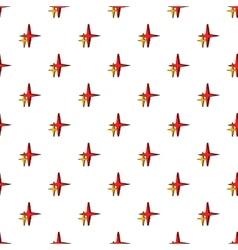 Stars pattern cartoon style vector image vector image
