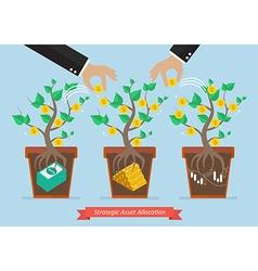 Strategic asset allocation vector