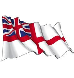 Uk naval ensign flag vector