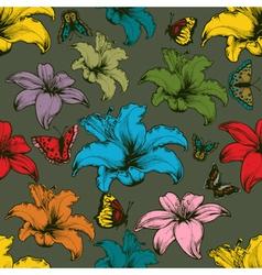 Vintage seamless floral wallpaper vector