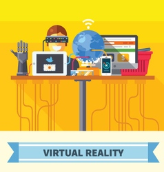 Virtual reality vector image vector image