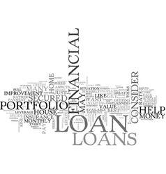which is the best loan for you text word cloud vector image vector image