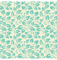 Floral seamelss wallpaper vector image