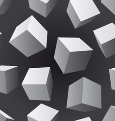 Floating cubes seamless pattern vector