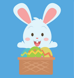 easter theme with bunny and egg vector image