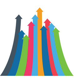 Infographic arrow arrows of growth vector