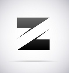 Logo for letter Z vector image
