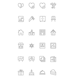 Line icons 15 vector