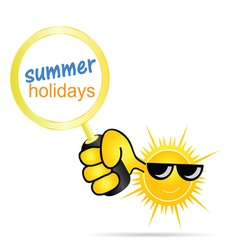 Sun with holidays summer vector