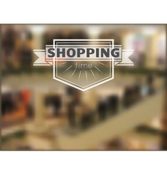 Shopping time hipster blur background 2 vector