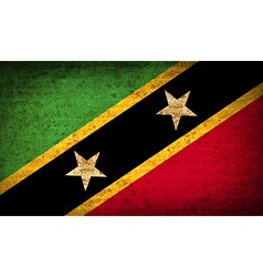 Flags saint kitts nevis with dirty paper texture vector