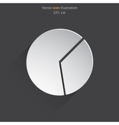 Pie chart web icon vector