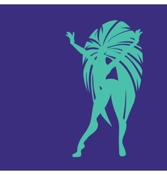 Flat geometric design of dancing samba queen vector